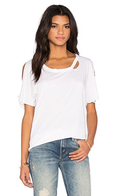 Chaser Deconstructed Dolman Boxy Tee in White