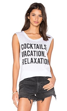 Chaser Cocktails Vacation Relaxation Tank in White