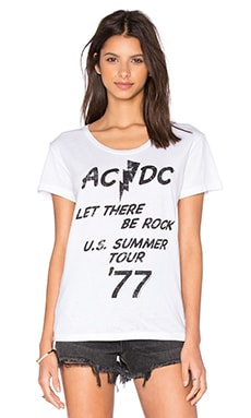ACDC Let There Be Rock Tee en Blanc