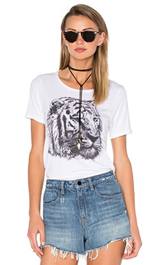 Tiger Sketch Tee in White