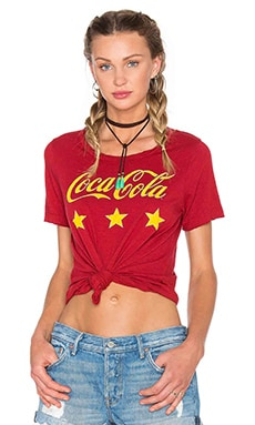 Chaser Coca Cola Stars Tee in Cardinal
