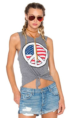 Chaser Peace USA Tank in Streaky Grey