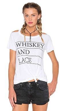 Whiskey & Lace Tee in White