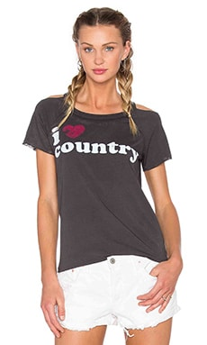 Chaser I Heart Country Tee in Black