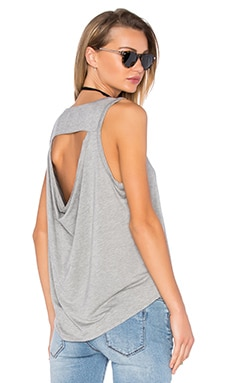Drape Back Muscle Tank in Grey