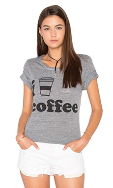 I Heart Coffee Tee en Gris Chiné
