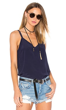 Silk Double Strap V Back Cami in Cove