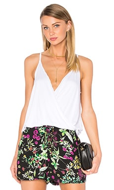 Draped Surplice Cami in White