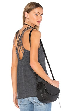 Criss Cross Strappy Cami in Black