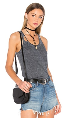 Deconstructed Shirttail Tank in Black