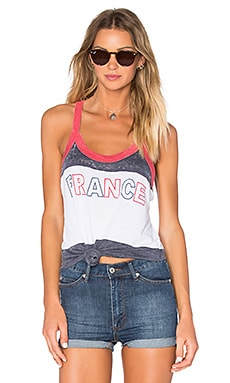 Chaser France Tank in White Blured