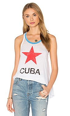 Chaser Cuba Tank in White & Blue