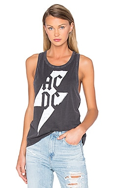 ACDC Bolt Tank in Vintage Black