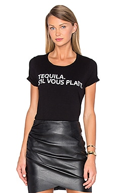 Tequila Please Tee en Noir