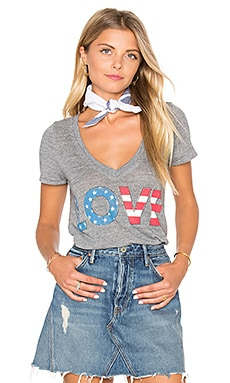 American Love Tee in Streaky Grey