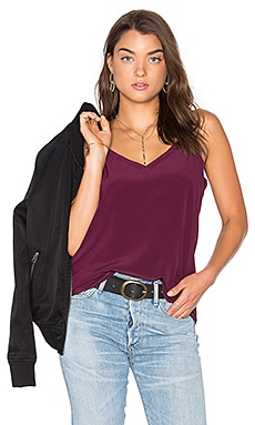 V Neck Drape Back Cami in Sangria