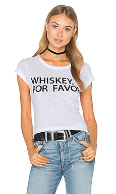 Whiskey Por Favor Tee en Blanc