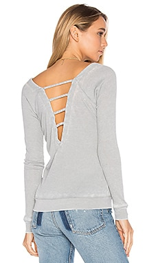 Strappy Double V Raglan Tee