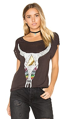 Rainbow Skull Tee en Union Black