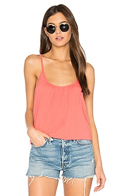 Cross Back Shirred Cami en Melon