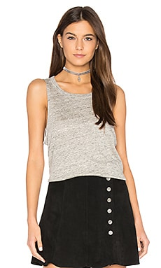 Pocket Shirttail Muscle Tee in Heather Grey