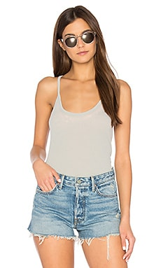 Rib T-Back Cami in Cool Grey