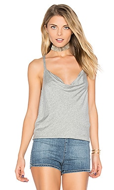 Strappy Drape Front Tank in Heather Grey