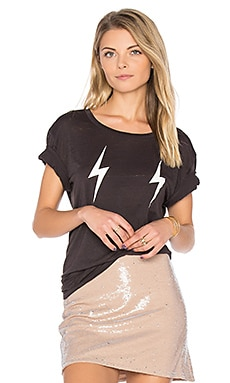Double Lightning Tee in Union Black