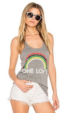 One Love Rainbow Tank em Streaky Gray