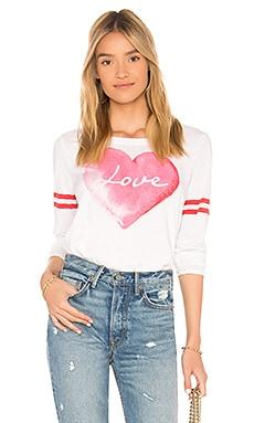 Купить Топ с длинным рукавом love heart - Chaser белого цвета