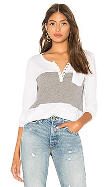 Blocked Jersey Henley Chaser $62