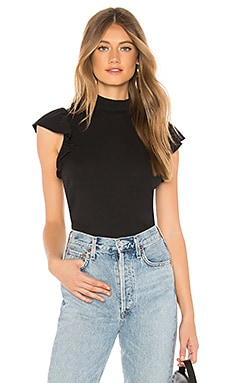 Mock Neck Ruffle Sleeve Top Chaser $64