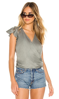 Flutter Wrap Crop Top Chaser $47