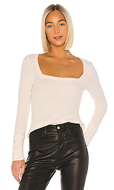 Square Neck Long Sleeve Tee Chaser $75
