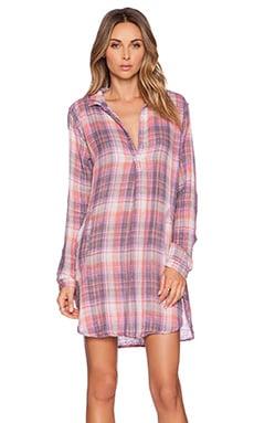 CP SHADES Teton Plaid Dress in Purple & Red Wash