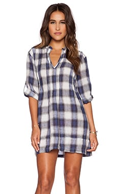 CP SHADES Regina Plaid Dress in Ink Plaid