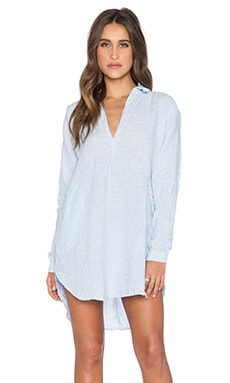 CP SHADES Teton Stripe Tunic in Whisper Blue & White