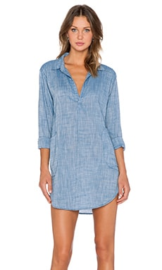 CP SHADES Teton Chambray Top in Surf