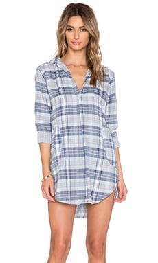 CP SHADES Teton Button Up Tunic in Pewter Multi Stripe