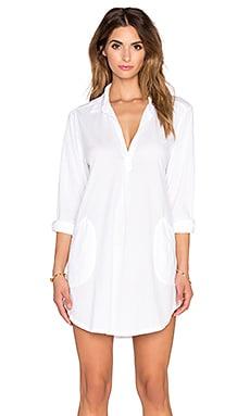 CP SHADES Teton Knit Tunic Dress in White