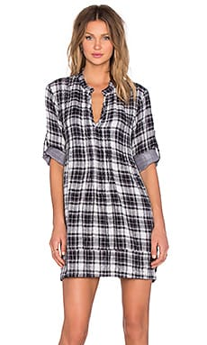 CP SHADES Regina Plaid Tunic in Small Check Wash