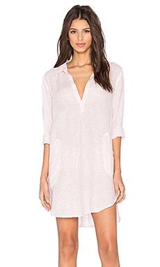 CP SHADES Teton Chambray Tunic Dress in Light Pink Wash
