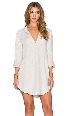 CP SHADES Teton Stripe Tunic Dress in Tan Stripe Wash