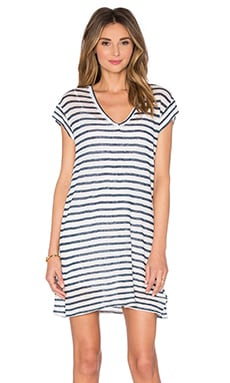 Val Dress en Navy Stripe