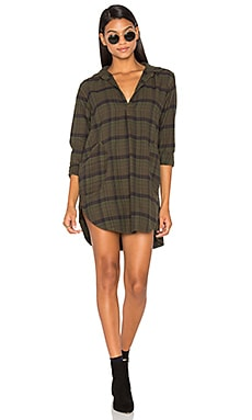 Teton Flannel Button Up Dress
