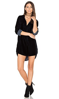 Terry Velvet Shirt Dress