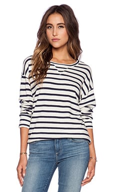 CP SHADES Pam Striped Sweatshirt in Wash