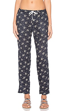 Hampton Floral Pant in Navy Floral