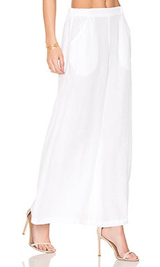 Wendy High Waisted Pant in White