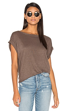 Ellery Off Shoulder Tee in Taupe
